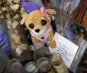 Candles and tickets for the massacre in Aurora, Colorado